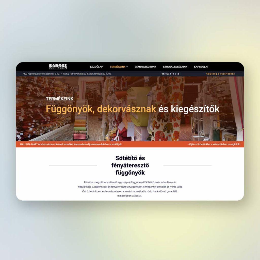 Weboldal | Baross Szőnyegáruház